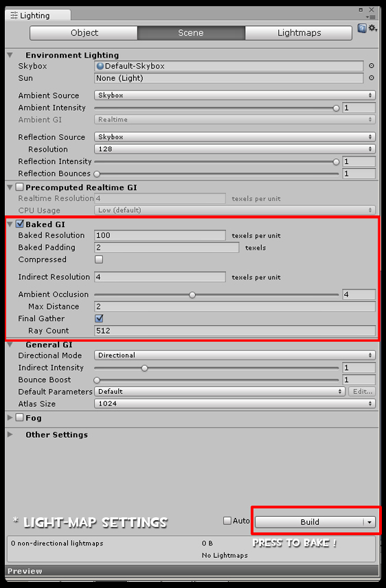 Game Dev Tip: How to bake Lightmap in Unity 5 ! - Ogre Head