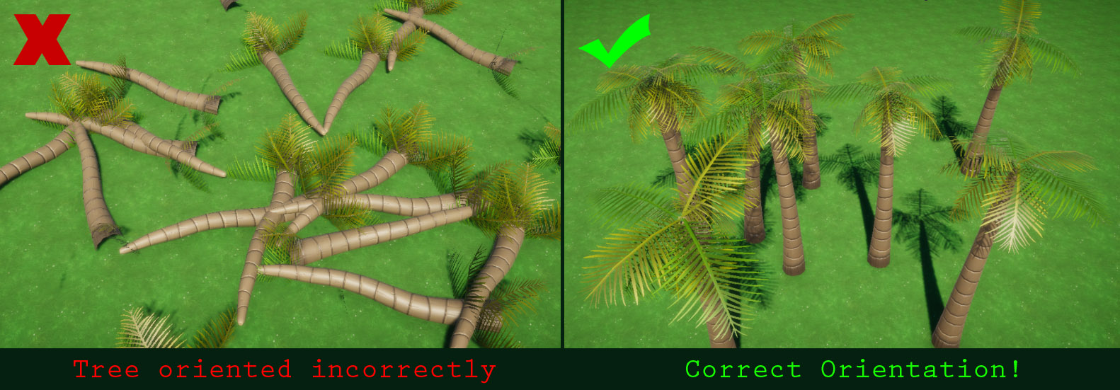 Fix for incorrect orientation when using Custom assets with